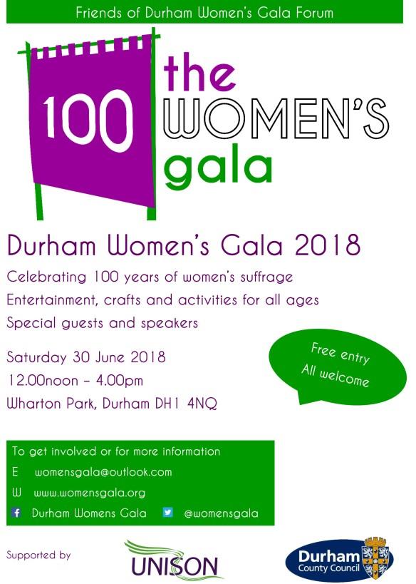 Durham Womens Gala poster