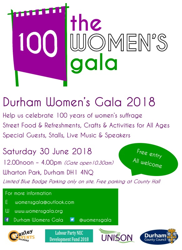 Durham Womens Gala poster FINAL